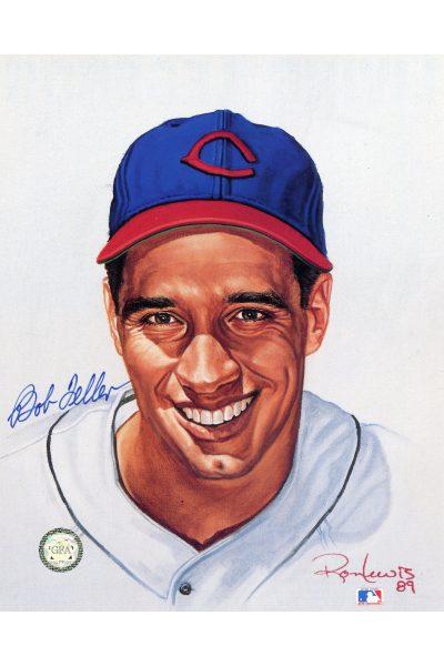 Bob Feller Signed 8x10 Photo Autographed Ron Lewis portrait
