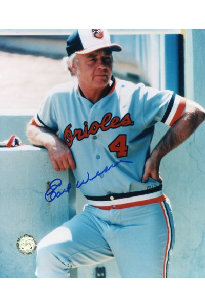 Earl Weaver Signed 8x10 Photo Autographed Manager Orioles