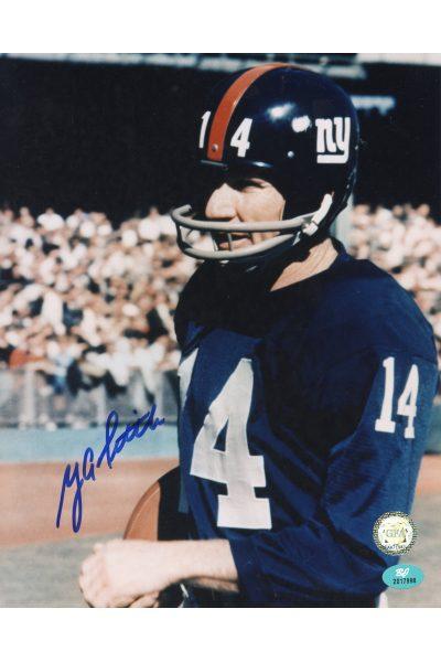 YA Tittle Signed 8x10 Photo Autographed NY Giants HOF