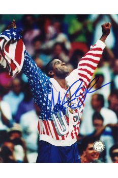 Ervin Magic Johnson Signed 8x10 Photo Autographed Dream Team Gold Metal