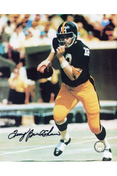 Terry Bradshaw Signed 8x10 Photo Autographed Steelers Scrambling