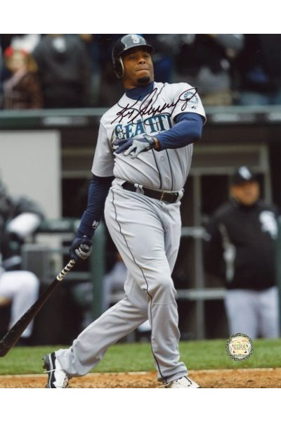 Ken Griffey Jr Signed 8x10 Photo Autographed Swinging at the plate