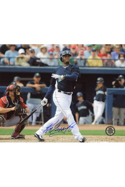 Ken Griffey Jr Signed 8x10 Photo Autographed Strikeout