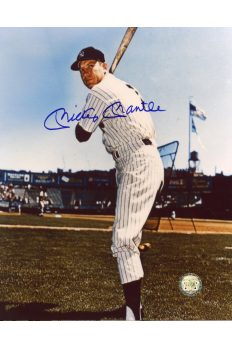 Mickey Mantle Signed 8x10 Photo Autographed Posed Batting
