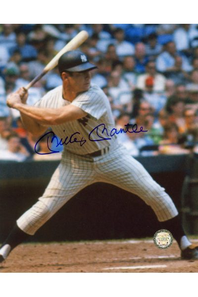 Mickey Mantle Signed 8x10 Photo Autographed about to Swing