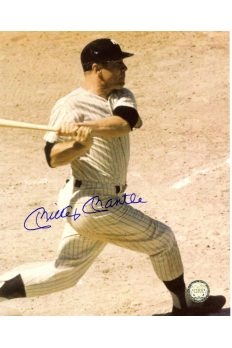 Mickey Mantle Signed 8x10 Photo Autographed Batting Dirt Infield