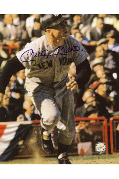 Mickey Mantle Signed 8x10 Photo Autographed Running to First