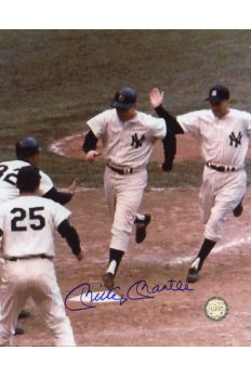 Mickey Mantle Signed 8x10 Photo Autographed Crossing Home