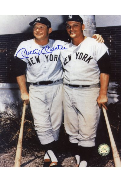 Mickey Mantle Signed 8x10 Photo Autographed with Roger Maris Spring Training