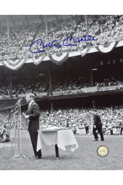 Mickey Mantle Signed 8x10 Photo Autographed MM Day June 8, 1969
