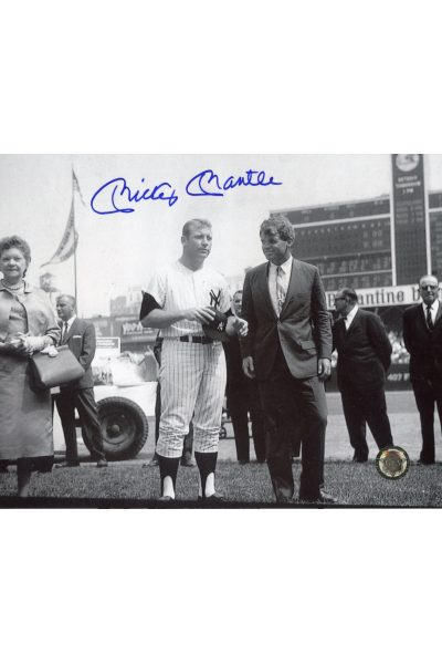 Mickey Mantle Signed 8x10 Photo Autographed With Robert Kennedy