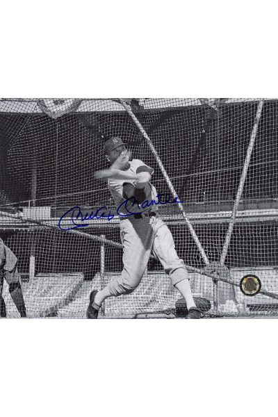Mickey Mantle Signed 8x10 Photo Autographed Hitting in Batting Cage