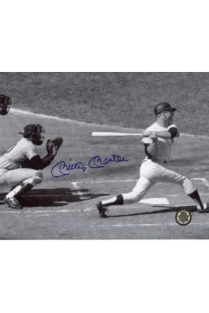 Mickey Mantle Signed 8x10 Photo Autographed Hitting white pinstripes
