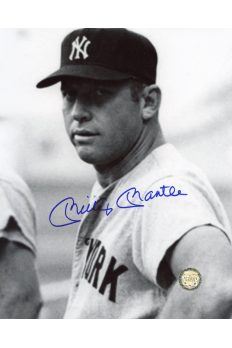 Mickey Mantle Signed 8x10 Photo Autographed Head shot grainy
