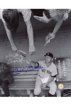 Mickey Mantle Signed 8x10 Photo Autographed Signing for Kids in the Dugout