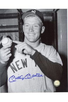 Mickey Mantle Signed 8x10 Photo Autographed with Griffith Shot April 1953 Baseball hit 565' Home Run