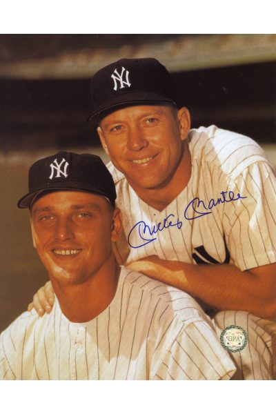 Mickey Mantle Signed 8x10 Photo Autographed with Roger Maris posed