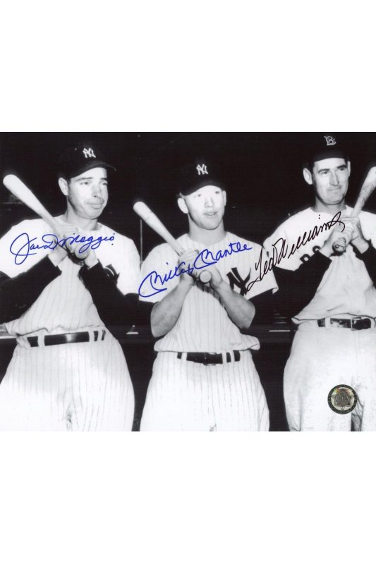 b98156810c9 ... Mickey Mantle Joe DiMaggio Ted Williams Signed 8x10 Photo Autographed