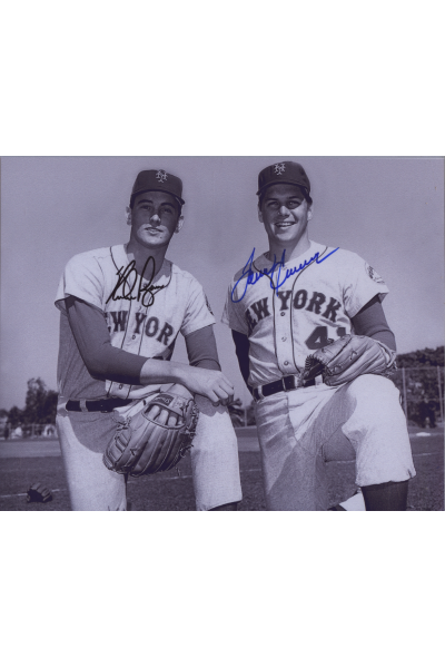 Nolan Ryan Tom Seaver Signed 8x10 Photo Autographed Amazing NY Mets