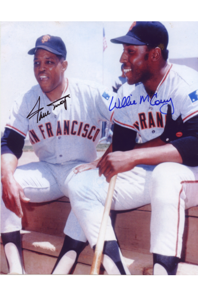 Willie Mays Willie McCovey Signed 8x10 Photo Autographed