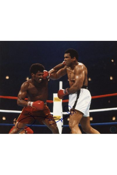 Leon Spinks 8x10 Photo Signed Autographed fighting Muhammad Ali